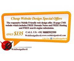 Cheap website design special offers from WebDesignDevil