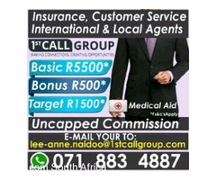 Join 1 of Durban's leading call center today Call us now!!!
