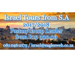 Israel Tours for Pastor/Group Leaders