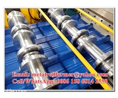 Galvalume Metal Roof Panel Roll Forming Machine, R Panel Cold Roll Forming Equipment