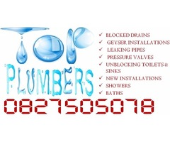 Theresapark Plumbers 0827505078, Geyser Repairs-Installations, Blocked Drains
