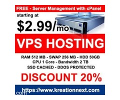 Low cost Dedicated Server starting at $ 55.69/mo.