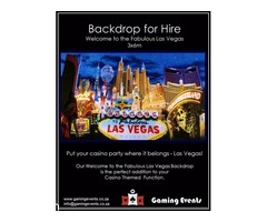 Backdrop for Hire - Welcome To Vegas