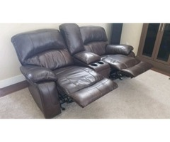 Sectional Couch with automatic Recliners - For Sale