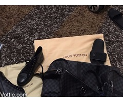 Louis Vuitton luxury bag and High top sneakers for sale